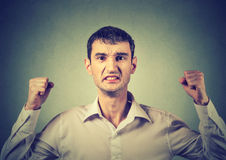 Portrait of an angry frustrated man royalty free stock image