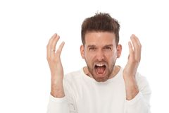 Portrait of angry man Stock Image