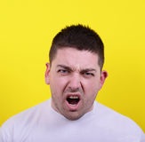 Portrait of angry man screaming Stock Images