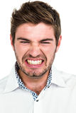 Portrait of angry man Stock Photos