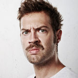 Portrait of an angry man Royalty Free Stock Photos