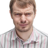 Portrait of a angry man. Stock Images