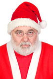 Portrait of angry Santa Claus Stock Images