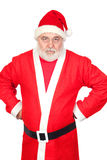 Portrait of angry Santa Claus Stock Image