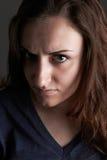 Portrait Of Angry Teenage Girl Stock Image