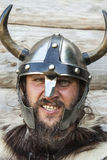 Portrait of the angry viking Royalty Free Stock Images