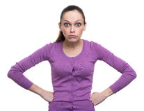 Portrait of an angry woman Royalty Free Stock Photo