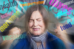 Portrait of angry woman Royalty Free Stock Photo