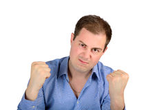 Portrait of angry young business man Stock Image