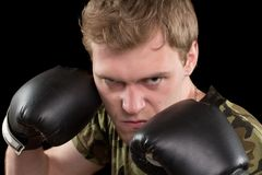 Portrait of angry young man Royalty Free Stock Image