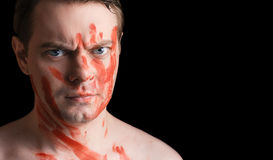 Portrait of angry young man. Royalty Free Stock Photos