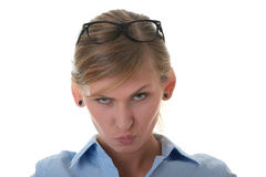 Portrait of a angry young woman Stock Photo