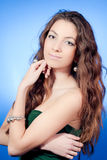 Portrait of Aphrodite, Beautiful Young Woman royalty free stock photo