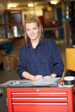 Portrait Of Apprentice Engineer In Factory Royalty Free Stock Photography