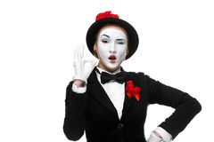 Portrait of the approving mime Royalty Free Stock Image
