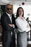 Portrait of an Arab businessman with a girl Stock Photo
