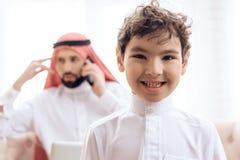 Portrait of Arab happy boy. royalty free stock image