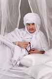 Portrait of the Arab male Stock Photos