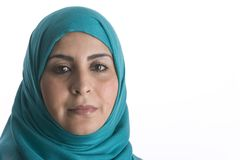 Portrait of an Arabic Muslim Woman Stock Photos