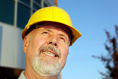 Portrait of an architect. Older, successful architect looking toward the future Royalty Free Stock Photo