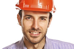 Portrait of architect. Fine portrait of young caucasian architect Royalty Free Stock Photos