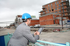 Portrait of architect on building site Royalty Free Stock Photos