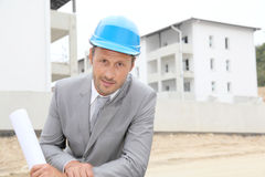 Portrait of architect on construction site Royalty Free Stock Photos
