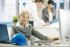 Portrait of architect in office Royalty Free Stock Image