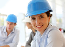Portrait of architect woman Stock Photography