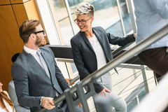 Portrait of architects having discussion in office Royalty Free Stock Photos