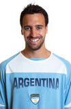 Portrait of an argentinian football fan Royalty Free Stock Photos