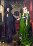 Portrait of Arnolfini  by Jan van Eyck  at the National Gallery of London Royalty Free Stock Photo