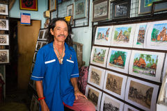 Portrait of the artist from Malacca Stock Photos