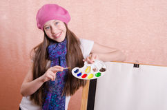 Portrait of the artist's palette Royalty Free Stock Photos