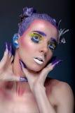 Portrait artistique de femme Photo libre de droits