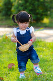 Portrait of asia children. Portrait of cute asia children playing in the garden royalty free stock photos