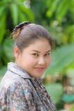 Portrait of asia women smiling Royalty Free Stock Photo