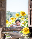 Portrait of Asian adorable little girl Royalty Free Stock Images