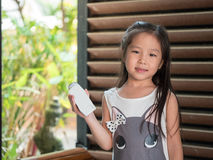 portrait of Asian adorable little girl Stock Photography
