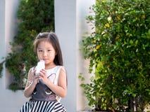 Portrait of Asian adorable little girl Stock Image