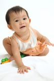 Portrait of asian baby Stock Images