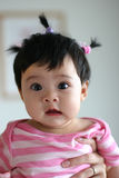 Portrait of Asian baby girl Royalty Free Stock Photography