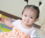 Portrait of asian baby girl Royalty Free Stock Photos