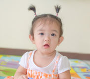 Portrait of asian baby girl Stock Images