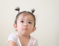 Portrait of asian baby girl Royalty Free Stock Photo