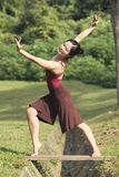 Portrait of asian ballet dancer outdoor Royalty Free Stock Photo