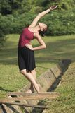 Portrait of asian ballet dancer outdoor Royalty Free Stock Photos