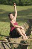 Portrait of asian ballet dancer outdoor Royalty Free Stock Images