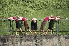 Portrait of asian ballet dancers outdoor Stock Photo