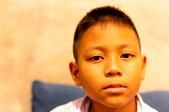 Portrait of asian boy crying with tear on his face. Portrait of asian boy crying with tear on his face stock photo